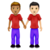 Men Holding Hands: Medium Skin Tone, Light Skin Tone