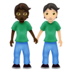 People Holding Hands: Dark Skin Tone, Light Skin Tone