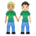 People Holding Hands: Medium-Light Skin Tone, Light Skin Tone