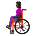 Woman in Manual Wheelchair: Dark Skin Tone