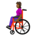 Woman in Manual Wheelchair: Medium-Dark Skin Tone