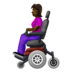Woman in Motorized Wheelchair: Dark Skin Tone