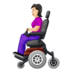 Woman in Motorized Wheelchair: Light Skin Tone
