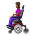 Woman in Motorized Wheelchair: Medium-Dark Skin Tone