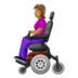 Woman in Motorized Wheelchair: Medium Skin Tone