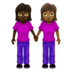 Women Holding Hands: Dark Skin Tone, Medium-Dark Skin Tone