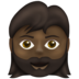 Woman: Dark Skin Tone, Beard