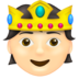 Person with Crown: Light Skin Tone