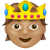 Person with Crown: Medium Skin Tone
