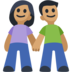 Man and Woman Holding Hands, Type-4