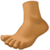 Foot: Medium-Dark Skin Tone