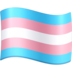 Blue, Pink, and White Flag