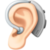 Ear with Hearing Aid: Light Skin Tone