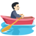 Person Rowing Boat: Light Skin Tone