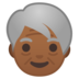 Older Person: Medium-Dark Skin Tone