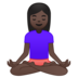Woman in Lotus Position: Dark Skin Tone