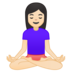 Woman in Lotus Position: Light Skin Tone
