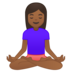 Woman in Lotus Position: Medium-Dark Skin Tone