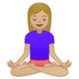 Woman in Lotus Position: Medium-Light Skin Tone