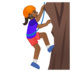 Person Climbing: Medium-Dark Skin Tone