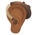 Ear With Hearing Aid: Medium-Dark Skin Tone