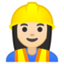 Woman Construction Worker: Light Skin Tone