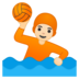Person Playing Water Polo: Light Skin Tone