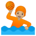 Person Playing Water Polo: Medium-Light Skin Tone