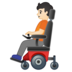 Person in Motorized Wheelchair: Light Skin Tone