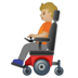 Person in Motorized Wheelchair: Medium-Light Skin Tone