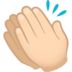 Clapping Hands: Light Skin Tone