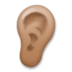 Ear: Medium-Dark Skin Tone