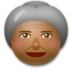 Old Woman: Medium-Dark Skin Tone