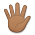 Hand with Fingers Splayed: Medium-Dark Skin Tone