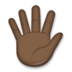 Hand with Fingers Splayed: Dark Skin Tone