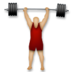 Person Lifting Weights: Medium-Light Skin Tone
