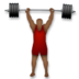 Person Lifting Weights: Medium-Dark Skin Tone