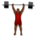Person Lifting Weights: Dark Skin Tone