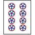 Mahjong Tile Eight of Circles