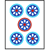 Mahjong Tile Five of Circles
