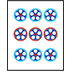 Mahjong Tile Nine of Circles