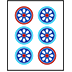 Mahjong Tile Six of Circles