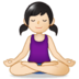 Person in Lotus Position: Light Skin Tone
