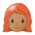 Woman, Red Haired: Medium Skin Tone