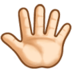 Reversed Raised Hand with Fingers Splayed + Emoji Modifier Fitzpatrick Type-1-2
