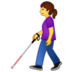 Person with White Cane