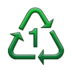 Recycling Symbol for Type-1 Plastics