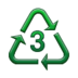 Recycling Symbol for Type-3 Plastics