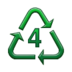 Recycling Symbol for Type-4 Plastics