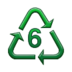 Recycling Symbol for Type-6 Plastics